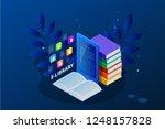 isometric web banner e learning ... | Shutterstock . vector #1248157828