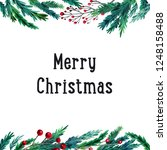 watercolor colorful christmas...   Shutterstock . vector #1248158488