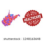 healthcare composition of...   Shutterstock .eps vector #1248163648