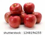 apple on plate | Shutterstock . vector #1248196255