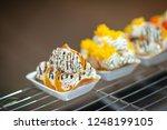 thai crispy pancake. thai... | Shutterstock . vector #1248199105