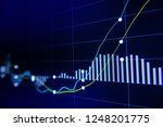 stock exchange market graph on... | Shutterstock . vector #1248201775