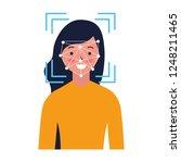 woman face scan process gadget | Shutterstock .eps vector #1248211465
