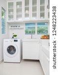 home appliances in small modern ...   Shutterstock . vector #1248223438
