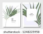 botanical invitation card... | Shutterstock .eps vector #1248225958