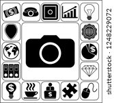 set of 17 business icons  high... | Shutterstock .eps vector #1248229072