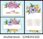romantic wedding invitation... | Shutterstock .eps vector #1248241102
