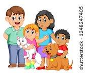 vector illustration of big... | Shutterstock .eps vector #1248247405