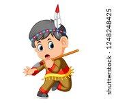 vector illustration of a boy... | Shutterstock .eps vector #1248248425