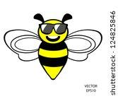 bee icon bee drawing bee...   Shutterstock .eps vector #124825846