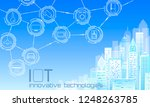 internet of things low poly... | Shutterstock .eps vector #1248263785