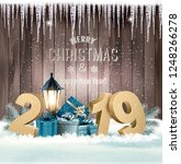 holiday christmas background... | Shutterstock .eps vector #1248266278