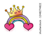 heart with rainbow pop art style | Shutterstock .eps vector #1248274822