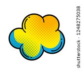 cloud pop art style | Shutterstock .eps vector #1248275038