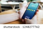 rate your experience customer... | Shutterstock . vector #1248277762