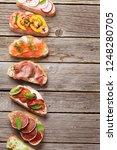 brushetta or traditional... | Shutterstock . vector #1248280705