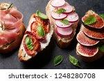 brushetta or traditional... | Shutterstock . vector #1248280708