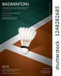 badminton championship poster...   Shutterstock .eps vector #1248282685