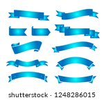 blue ribbons collection vector... | Shutterstock .eps vector #1248286015