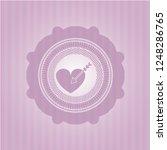 love icon inside pink emblem.... | Shutterstock .eps vector #1248286765