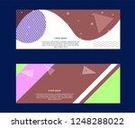 set of social media sale... | Shutterstock .eps vector #1248288022