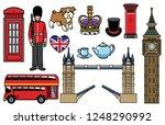 united kingdom icon set | Shutterstock .eps vector #1248290992