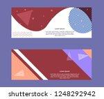 social media banner template | Shutterstock .eps vector #1248292942