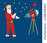 santa claus with his telescope  ... | Shutterstock .eps vector #1248298342
