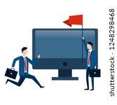 successful businessmen avatar... | Shutterstock .eps vector #1248298468