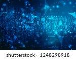 digital abstract technology... | Shutterstock . vector #1248298918