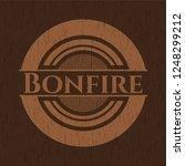 bonfire vintage wood emblem   Shutterstock .eps vector #1248299212