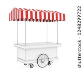 food cart isolated. 3d rendering | Shutterstock . vector #1248299722