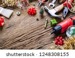 merry christmas and happy new... | Shutterstock . vector #1248308155