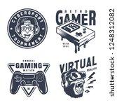 vintage monochrome video game...   Shutterstock .eps vector #1248312082