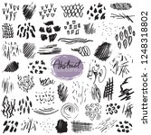 set of hand drawn design... | Shutterstock .eps vector #1248318802