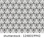 ornament with elements of black ... | Shutterstock . vector #1248319942