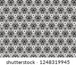 ornament with elements of black ... | Shutterstock . vector #1248319945