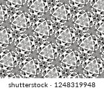 ornament with elements of black ... | Shutterstock . vector #1248319948