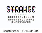 stylized colorful font design ... | Shutterstock .eps vector #1248334885
