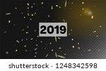 2019 magic glitter confetti ... | Shutterstock .eps vector #1248342598
