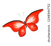 beautiful red butterflies ... | Shutterstock .eps vector #1248344752
