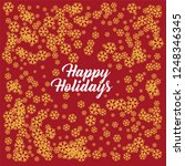 snowflake on a red background....   Shutterstock . vector #1248346345
