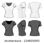 vector. women's t shirt design... | Shutterstock .eps vector #124835092