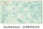 rome italy city map in retro... | Shutterstock . vector #1248356152
