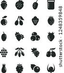 solid black vector icon set  ... | Shutterstock .eps vector #1248359848