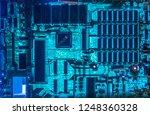 computer motherboard glowing... | Shutterstock . vector #1248360328