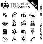 basic   medical icons | Shutterstock .eps vector #124836088