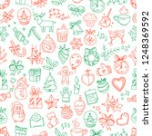 seamless pattern with winter... | Shutterstock .eps vector #1248369592