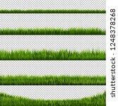 green grass transparent... | Shutterstock .eps vector #1248378268