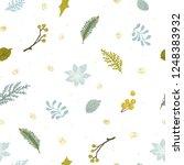 christmas floral seamless...   Shutterstock .eps vector #1248383932